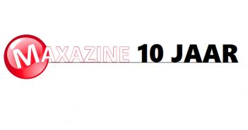Maxazine 10 jaar Header logo